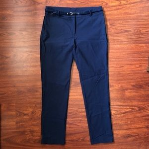 Navy blue petite trousers